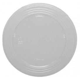 #COF-0200PET-D95C Capace din polietilena, transparente, plate, cu orificiu pai, Ø 95 mm