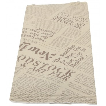 2300 Port tacamuri din hartie cu servetele albe, 380 x 380 mm, 2 straturi, ziar
