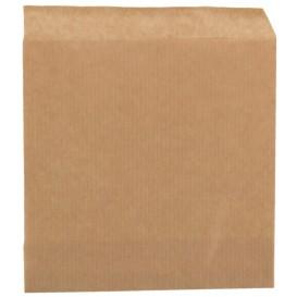 #PAT-CRTKN-2900 Pungi din hartie, netiparite, coltare, 140 x 150 mm, kraft natur