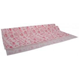 #PAT-4500 Hartie 95 A, alba + rosu, dulciuri apetisante, 70 x 100 cm, 38gr
