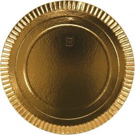 #GLT-3850 Farfurii din carton, aurii, lux, Ø 280 mm