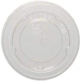 #COF-0200PET-D78C Capace din poletilena, transparente, plate, orificiu pai, Ø 78 mm