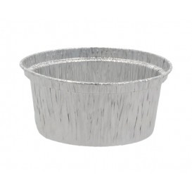 #CTR-PAL-1400 Caserole aluminiu, argintii, rotunde, Ø 85, 185 g