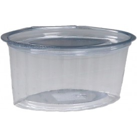 #PZA-1200 Sosiere transparente din PET + capac atasat, ovale, 100 cc