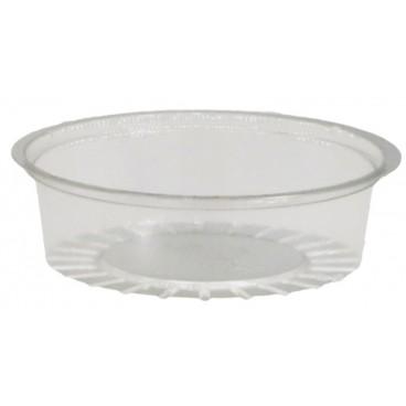 #PZA-1200-D75 Sosiere transparente, capac separat, PET, 50 cc, Ø 75 mm
