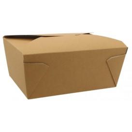 1400 Meniuri carton 4 clapete, kraft natur, 2880 ml