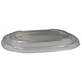 #CTR-BIO-1400-O190145-C Capace din RPET, transparente, ovale, 190 x 145 x 20 mm