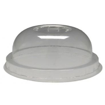 0400 Capace din PLA, transparente, dome, orificiu pai, Ø 100 mm