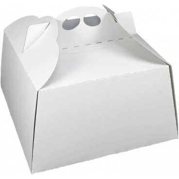 #GLT-3600 Cutii tort, albe, din carton gros, 250 x 250 mm