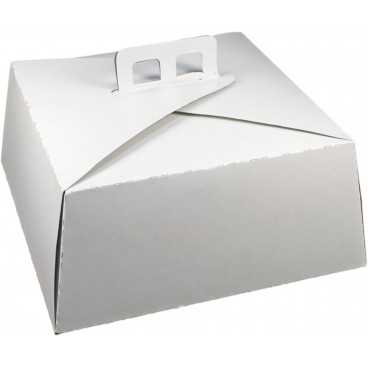 #GLT-3600 Cutii tort, albe, din carton gros, 300 x 300 mm