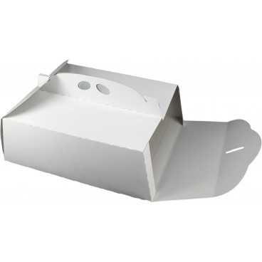 #GLT-3600 Cutii tort, albe, din carton gros, 380 x 310 mm