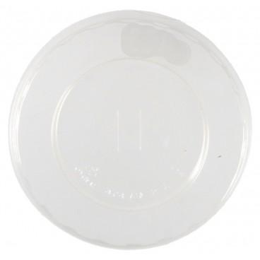 #COF-0200-CPS-D100-C Capace transparente, PLA, plate, orificiu pai, Ø 100 mm