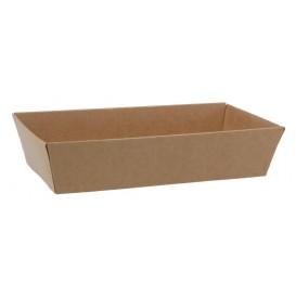 #CTR-CRTKN-1400-085X155 Caserole din carton pentru sushi, kraft natur, 85X155 - H34
