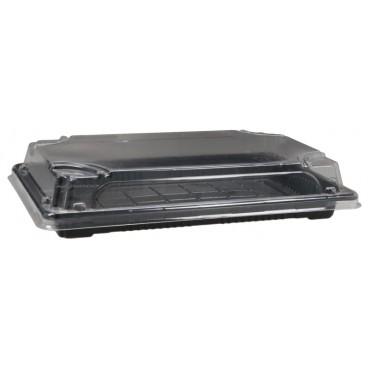 #CTR-SSH-1400 Caserole sushi negre din PET, drp. 138 x 221 x 20 mm