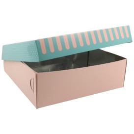 3700 Cutii din carton + aluminiu, patiserie / cofetarie, 250 x 250 x 80 mm