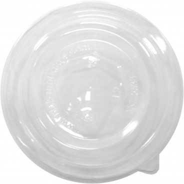 #CTR-CRTALB-1300-D140-C Capace din PET, transparente, dome, fara gaura, Ø 140 mm