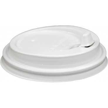 0200-CRTZ Capace din PS, Ø 80 mm, cu orificiu tip buton pentru bauturi calde, albe