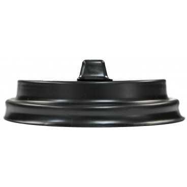 Capace din PS, Ø 80 mm, cu orificiu tip buton pentru bauturi calde, negru