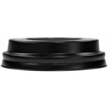 #COF-0200CRT-Z01 Capace din PS, negre cu orificiu pentru bauturi calde, Ø 72 mm