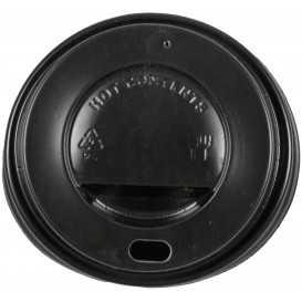 #COF-0200CRT-Z01 Capace din PS, Ø 62 mm, cu orificiu pentru bauturi calde, negre