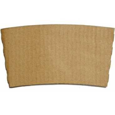 Mansoane din carton, pentru pahare Ø 80 mm, kraft natur
