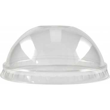 Capace din PET,   Ø 74 mm, dome, cu gaura, transparente