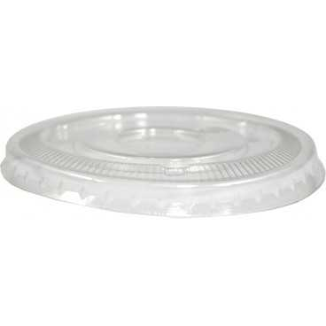 Capace din PET,   Ø 74 mm, plate, fara gaura, transparente