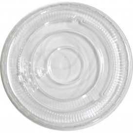 #PZA-1200-C Capace din polietilena, transparente, plate, fara gaura, Ø 74 mm