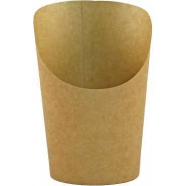 Pahare din carton pentru wrapuri, Ø 80 mm, 150cc, kraft natur