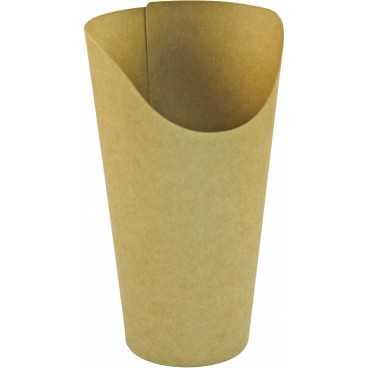 Pahare din carton pentru wrapuri, Ø 90 mm,  250cc, kraft natur
