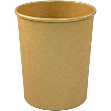 Boluri din carton, Ø 95 mm, 24oz, kraft natur + capace din carton kraft natur