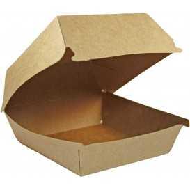 #CTR-CRTKN-1400 Caserole din carton pentru burger, 100 x 100 mm, kraft natur