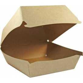 1400CABG Caserole din carton pentru burger, 120 x 120 mm, kraft natur