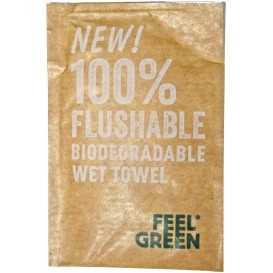 2600 Servetele umede, ambalate individual, 100 x 68 mm, biodegradabil