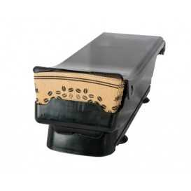 #COF-0200CRT-Z02-D Dispenser din plastic, pentru mansoane din carton, negru