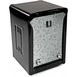 2600V085D Dispenser din inox pentru servetele pliate spre exterior, 85 x 120 mm, negru