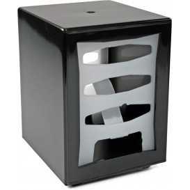 2600V085D Dispenser din plastic pentru servetele pliate spre exterior, 85 x 120 mm, negru
