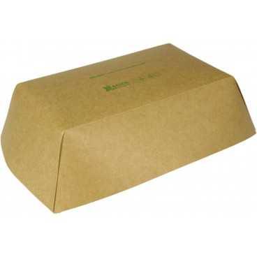 0950 Barcute din carton, kraft natur, 1200cc, 245 x 165 x 57 mm