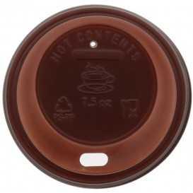 #COF-0200CRT-Z01 Capace din PS, Ø 70 mm, cu orificiu pentru bauturi calde, maro