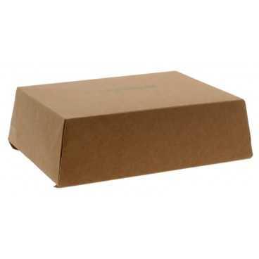 Meniuri din carton cu 4 clapete, 1300cc, kraft natur