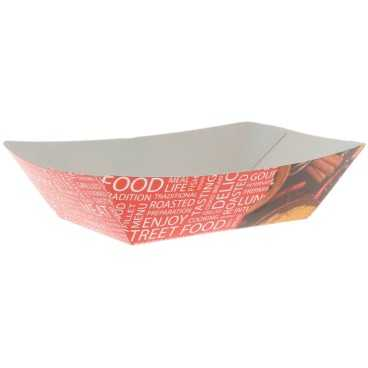 Barcute din carton,   300cc,   160 x 120 x 25 mm, street food