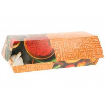 Caserole din carton pentru panini, 195 x 75 x 70 mm, street food