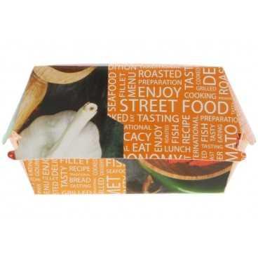 Caserole din carton pentru burger, 100 x 100 x 70 mm, street food