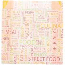 1600 Pungi din hartie rezistenta la grasimi, 110 + 40 x 110 mm, street food