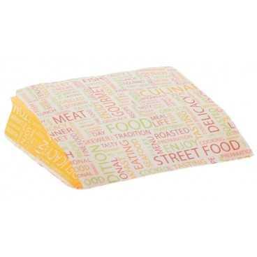Pungi din hartie rezistenta la grasimi, 110 + 40 x 110 mm, street food