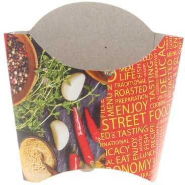 Cutii din carton pentru cartofi, 250cc, street food