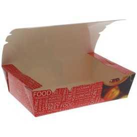 #CTR-CRTSTF-1400 Meniuri din carton cu clapeta, rezistente la lichide, street food, 1000cc