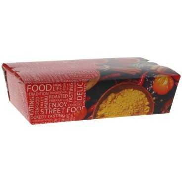 Meniuri din carton cu clapeta, 1000cc, street food