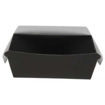 Caserole din carton pentru burger, 100 x 100 x 55 mm, negre
