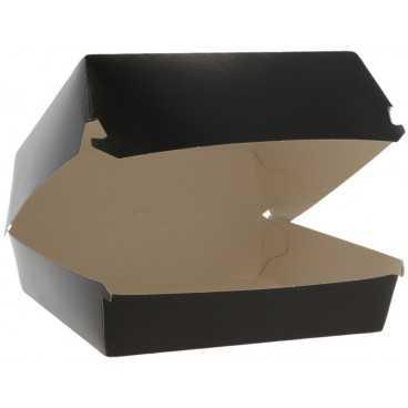 Caserole din carton pentru burger, 150 x 150 x 80 mm, negre